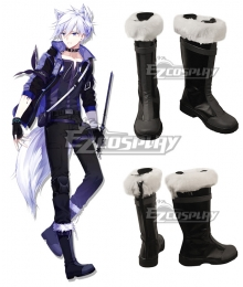 Arknights Steward Black Shoes Cosplay Boots