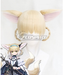 Arknights Suzuran Golden Cosplay Wig