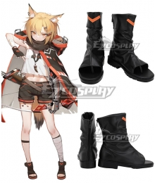Arknights Vermeil Black Cosplay Shoes