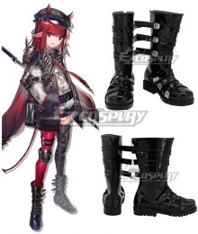Arknights Vigna Black Shoes Cosplay Boots