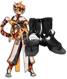 Arknights Waai Fu Black Cosplay Shoes