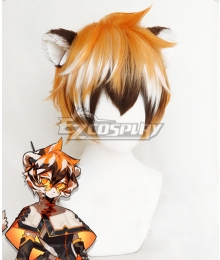 Arknights Waai Fu Orange Cosplay Wig