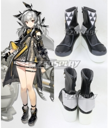 Arknights Weedy Black Cosplay Shoes