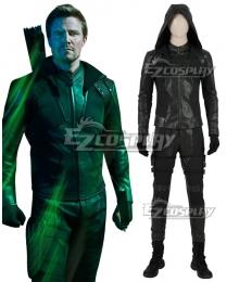 DC Arrow Season 8 Oliver Queen Green Arrow Cosplay Costume