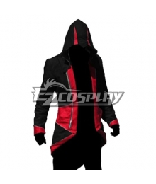 Assassin's Creed II Ezio Black & Red Cosplay Hoodie