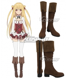Assassins Pride Melida Angel Brown Shoes Cosplay Boots