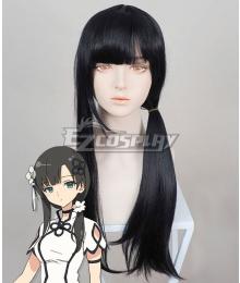 Assault Lily Bouquet Wang Yujia Black Cosplay Wig