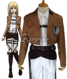 Attack on Titan Shingeki no Kyojin Krista Lenz Survey Corps Cosplay Costume