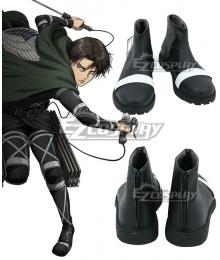 Attack On Titan Final Season Levi Ackerman Mikasa Black Cosplay Shoes