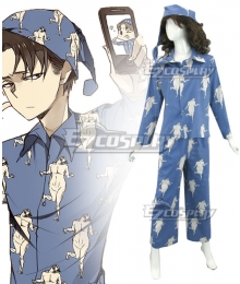 Attack on Titan Levi Pajamas Cosplay Costume - Polyester