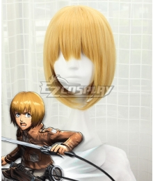 Attack On Titan Shingeki No Kyojin Armin Arlert Golden Cosplay Wig