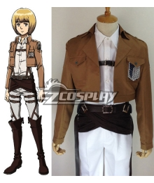 Attack on Titan Shingeki no Kyojin Armin Arlert Survey Corps Cosplay Costume