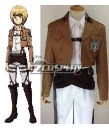 Attack on Titan Shingeki no Kyojin Armin Arlert Training Corps Cosplay Costume