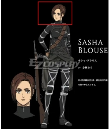 Attack On Titan Shingeki No Kyojin Final Season Sasha Blause Brown Cosplay Wig