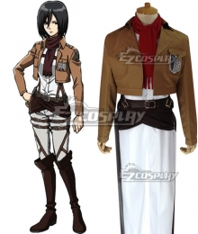 Attack on Titan Shingeki no Kyojin Mikasa Akkaman Mikasa Ackerman Scout Regiment Cosplay Costume