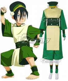 Avatar The Last Airbender Toph Beifong Green Cosplay Costume
