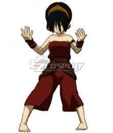 Avatar The Last Airbender Toph Beifong Red Cosplay Costume - New Edition