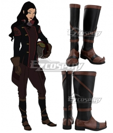Avatar The Legend of Korra Asami Sato Black Shoes Cosplay Boots