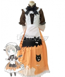 Axis Powers Hetalia APH Liechtenstein Principality Of Liechtenstein Halloween Pumpkin Cosplay Costume