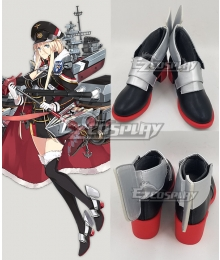 Azur Lane Bismarck Black Cosplay Shoes