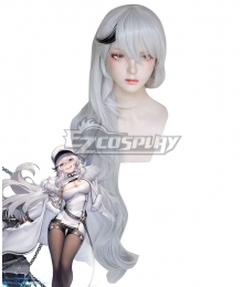 Azur Lane Gangut Silver Grey White Cosplay Wig