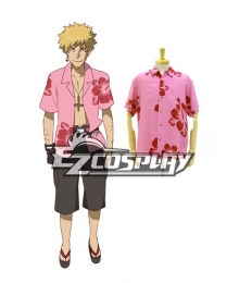 Bakemonogatari Oshino Meme design Aloha Pink Cosplay Costume