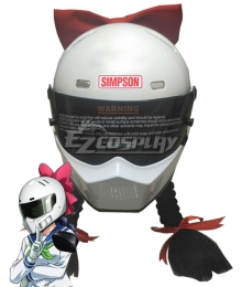 Bakuon!! Raimu Kawasaki Helmet Mask Cosplay Accessory Prop