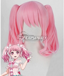 BanG Dream ! Girls Band Party! Maruyama Aya Pink Cosplay Wig