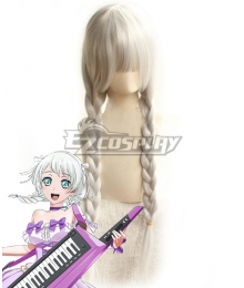 BanG Dream! Pastel*Palettes Wakamiya Eve White Cosplay Wig