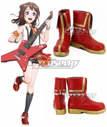 BanG Dream! Poppin' Party Kasumi Toyama Red Cosplay Shoes