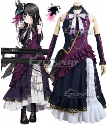 BanG Dream! Roselia Shirokane Rinko BLACK SHOUT Cosplay Costume