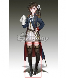 Banner of the Maid Pauline Bonaparte Black Cosplay Boots