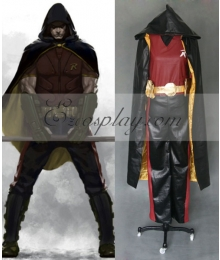 DC Comics Batman Arkham City Robin Cosplay Costume