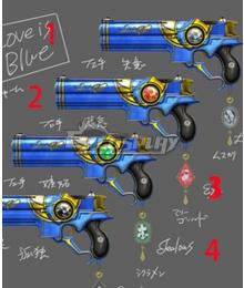 Bayonetta 2 Bayonetta Love Is Blue Gun Cosplay Weapon Prop
