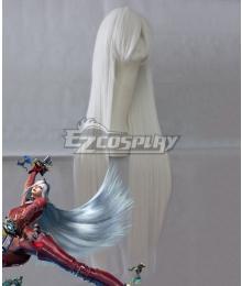 Bayonetta 2 Jeanne Silver Cosplay Wig