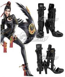 Bayonetta Bayonetta Black Cosplay Shoes