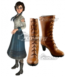 Bioshock Infinite Elizabeth Brown Cosplay Boots
