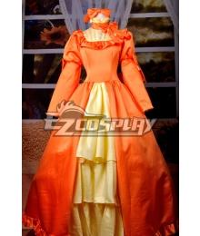 Black Bulter Elizabeth Orange Dress Cosplay Costume