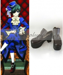 Black Butler Ciel Phantomhive Brown Cosplay Shoes