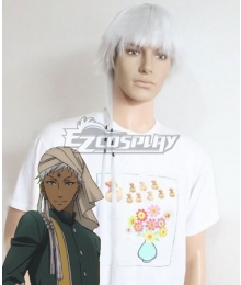 Black Butler Kuroshitsuji Agni White Cosplay Wig