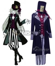 Black Butler Kuroshitsuji Ciel in Wonderland Undertaker Cosplay Costume