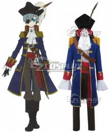 Black Butler Kuroshitsuji Ciel Phantomhive Pirate Cosplay Costume