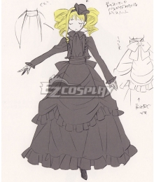 Black Butler Kuroshitsuji Elizabeth Midford Funeral Dress Cosp1ay Costume