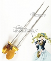 Black Butler Kuroshitsuji Movie: Book Of The Atlantic Elizabeth Midford Double Sword Cosplay Weapon Prop