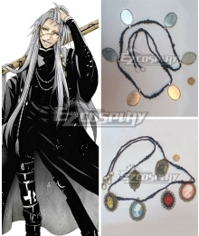 Black Butler Kuroshitsuji Movie: Book of the Atlantic Undertaker Necklace Cosplay Accessory Prop