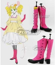 Black Butler Kuroshitsuji OVA Ciel in Wonderland Elizabeth Midford Mouse Pink Shoes Cosplay Boots