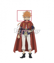 Black Clover Leopold Vermillion Orange Cosplay Wig
