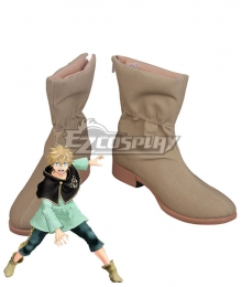 Black Clover Luck Voltia Brown Cosplay Shoes