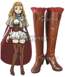 Black Clover Mimosa Vermilion Brown Shoes Cosplay Boots