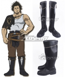 Black Clover Yami Sukehiro Black Shoes Cosplay Boots